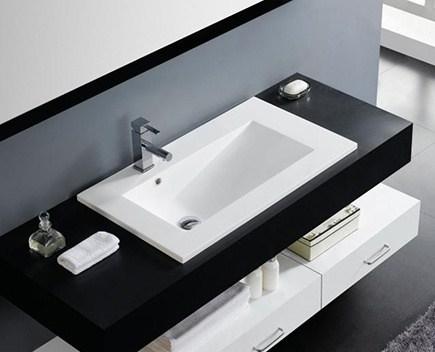 Umyvadlo TECNO 1000 x 450 x 165 | bílé | zápustné