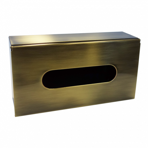 Zásobník na papírové kapesníčky   bronz