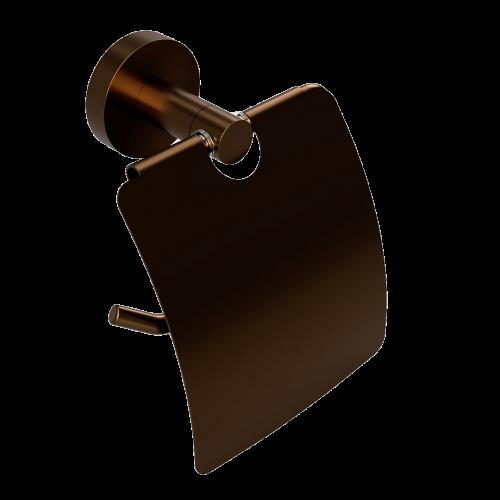Držák na toaletní papír PVD s krytem | Coffee-Gold