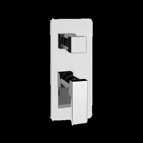 AU | Podomítkový modul Absolute | dvoucestný | pákový mechanický | chrom lesk