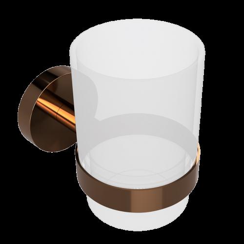 Držák pohárku PVD se sklenkou   Coffee-Gold