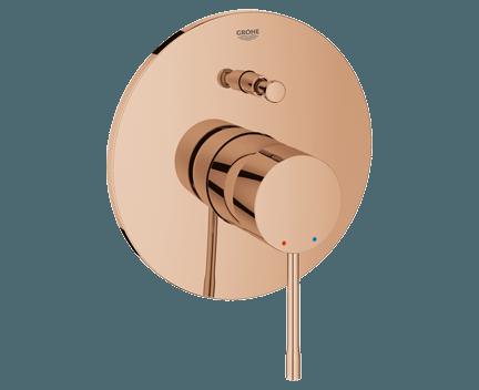 Podomítkový modul Essence   pákový   dvoucestný   Warm Sunset