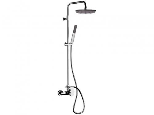 Sprchový set INFINITY | nástěnný | Pákové | 200 x 200 mm | broušený nikl lesk