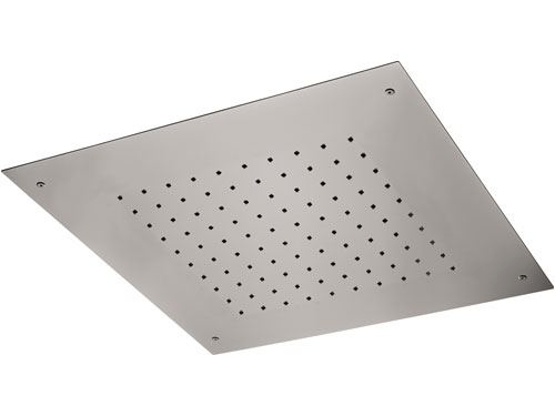 Vestavná sprchová hlavice | 430 x 430 mm | čtvercová | saténové zlato