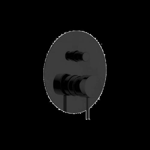 Podomítkový modul X STYLE | pákový dvoucestný | černá mat