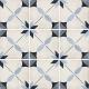 Dlažba Art Nouveau ARCADE BLUE | 200x200 | mat