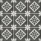 Dlažba Art Nouveau PÀDUA BLACK   200x200   mat