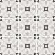 Dlažba Art Nouveau KARLSPLATZ GREY | 200x200 | mat
