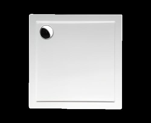 AURA 900x900x40 mm, vanička litý mramor, bílá