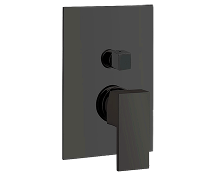 Podomítkový modul UNIKA  | pákový dvoucestný | černá