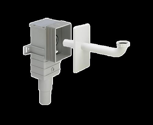 Zápachový uzávěr Viega -podomítková montáž-bílý plast DN50/40, G1 1/4
