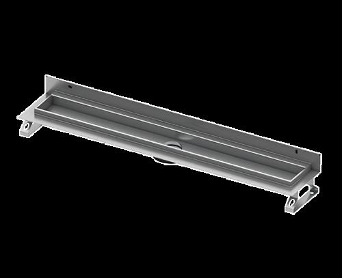 Žlab  Drainline rovný s vertikální přírubou pro umístění ke zdi