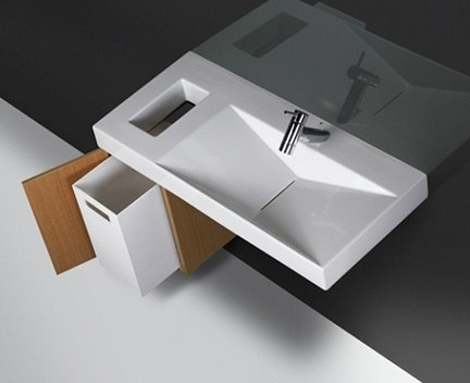 Skříňka s košem pod umyvadlo FLUX