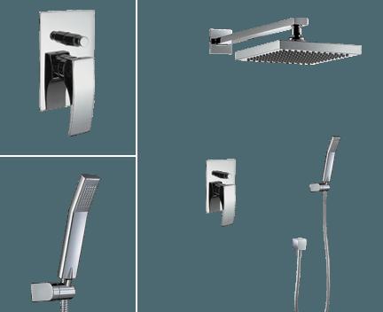 Sprchový set CAE 770 | podomítkový pákový | se závěsnou hlavicí 205 x 205 mm