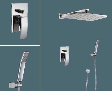 Sprchový set CAE 770 | podomítkový pákový | se závěsnou hlavicí 360 x 240 mm