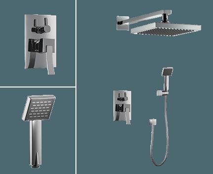 Sprchový set CAE 780 | podomítkový pákový | se závěsnou hlavicí 205 x 205 mm
