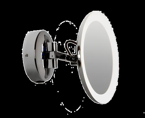 Kosmetické zrcátko Mascali  | kulaté | s osvětlením | 5x zoom