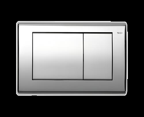 Ovládací WC modul Planus dvojčinný leštěný chrom
