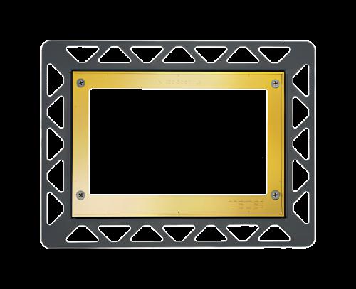 Instalační rámeček pro zapuštěnou montáž | zlatá