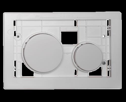 Ovládací WC modul  Loop s bílými antibakteriálními tlačítky z plastu bez desky