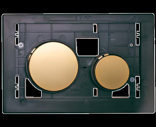 Ovládací WC modul  Loop se zlatými tlačítky z plastu bez desky
