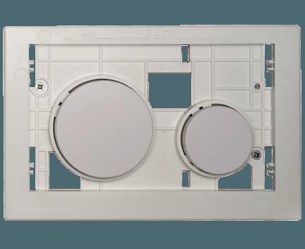 Ovládací WC modul  Loop s šedými tlačítky z plastu bez desky