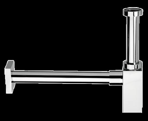 Sifon umyvadlový Ø32 DESIGN celokovový | 960 | hranatý | chrom lesk