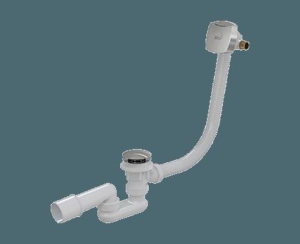 Sifon vanový A508KM 80   click/clack s napouštěním přepadem   pro tenkostěnné vany