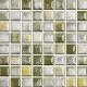 Mozaika Acqua Green & White   18x18mm   lesk