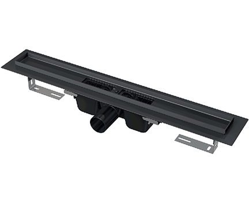 Liniový podlahový žlab | 300 | LOW | černá