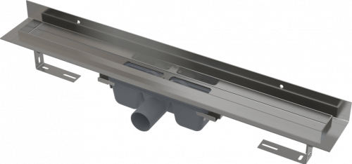 APZ16 | Podlahový žlab s okrajem pro plný rošt a s pevným límcem ke stěně | 300