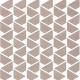 Mozaika Raw Rose Flag   311x316 mm   mat