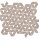 Mozaika Raw Rose Twist   358x310 mm   mat
