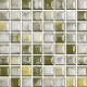 Mozaika Acqua Green & White | 18x18mm | lesk