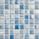 Mozaika Acqua Blue & White | 18x18mm | lesk