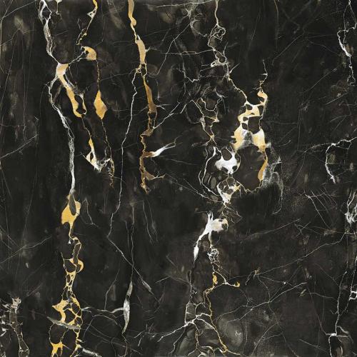Dlažba Jewels Black Gold   600x600   lesk