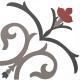 Dlažba Neocim Classic Decor Branche Framboise | 200x200 | mat