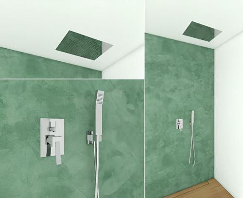 Sprchový set CAE 780 | podomítkový pákový | s vestavnou hlavicí 330 x 480 mm