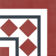 Dlažba Neocim Classic Canto Optique Framboise | 200x200 | mat