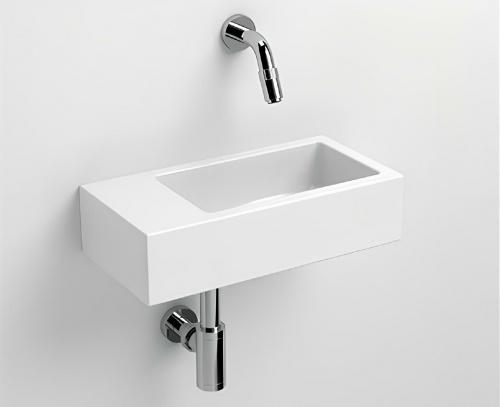 Umyvadlo Flush 360 x 180 x 90 | závěsné nebo desku | bílá