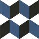 Dlažba Neocim Plus Décors Cubique Blue | 200x200 | dekor