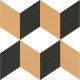 Dlažba Neocim Plus Cubique Caramel | 200x200 | dekor