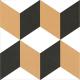Dlažba Neocim Plus Décors Cubique Caramel | 200x200 | dekor