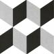 Dlažba Neocim Plus Décors Cubique Titane | 200x200 | dekor
