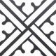 Dlažba Neocim Decor Classic Noir B | 200x200 | mat