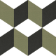 Dlažba Neocim Plus Décor Cubique Lierre | 200x200 | dekor