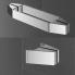 TUSCA | Sprchová zástěna - dveře do niky | kyvný zdvihový mechanismus 180° | 900 x 2000