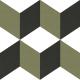 Dlažba Neocim Plus Décor Cubique Lierre   200x200   dekor