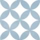 Dlažba Neocim Classic Decor Fleur Ciel   200x200   mat