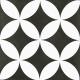 Dlažba Neocim Plus Dekor Fleur Noir N   200x200   dekor